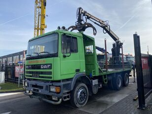 DAF 95.380 ATI 6X4 MANUAL FULL STEEL + HIAB CRANE