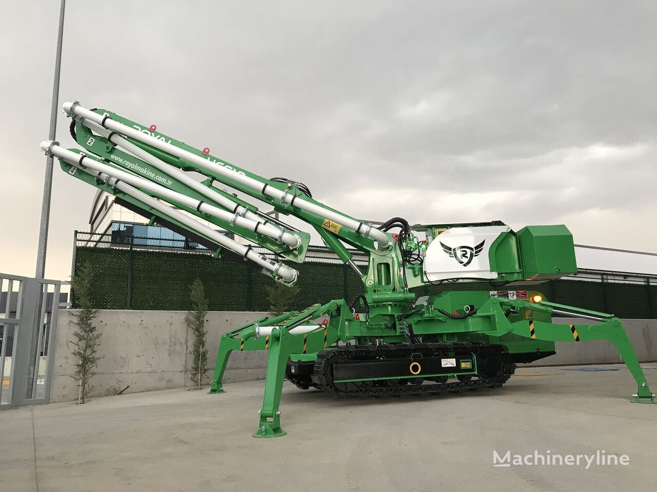 ny ROYALMAC HCS18 Z4 CRAWLER PLACING BOOM betong distribusjon pumpe