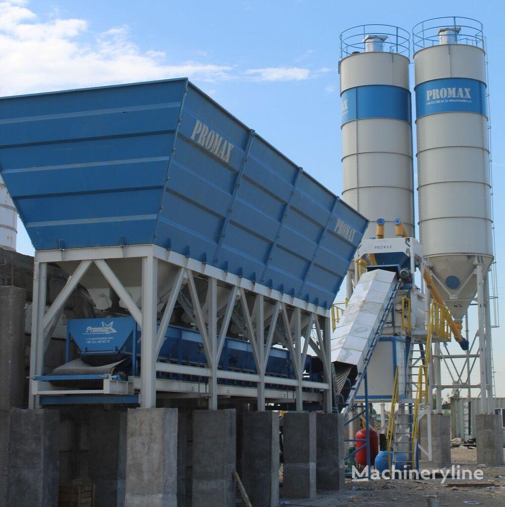 ny PROMAX محطة خلط الخرسانة المدمجة C100-TWN-LINE (100m3 / h) betongfabrikk
