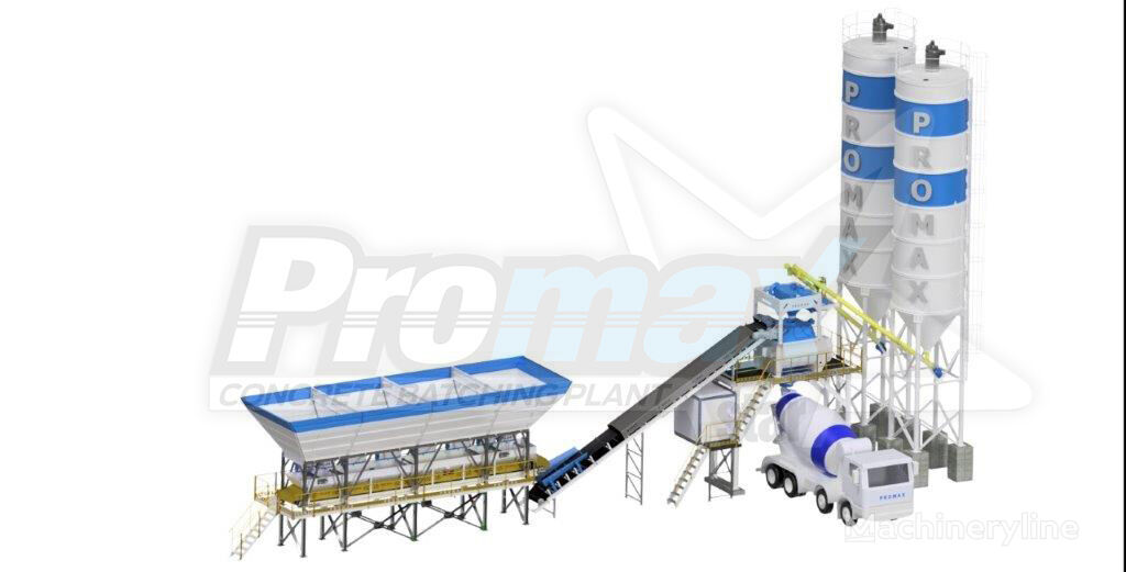 ny PROMAX Compact Concrete Batching Plant PROMAX C100-TWN-L (100m/h) betongfabrikk