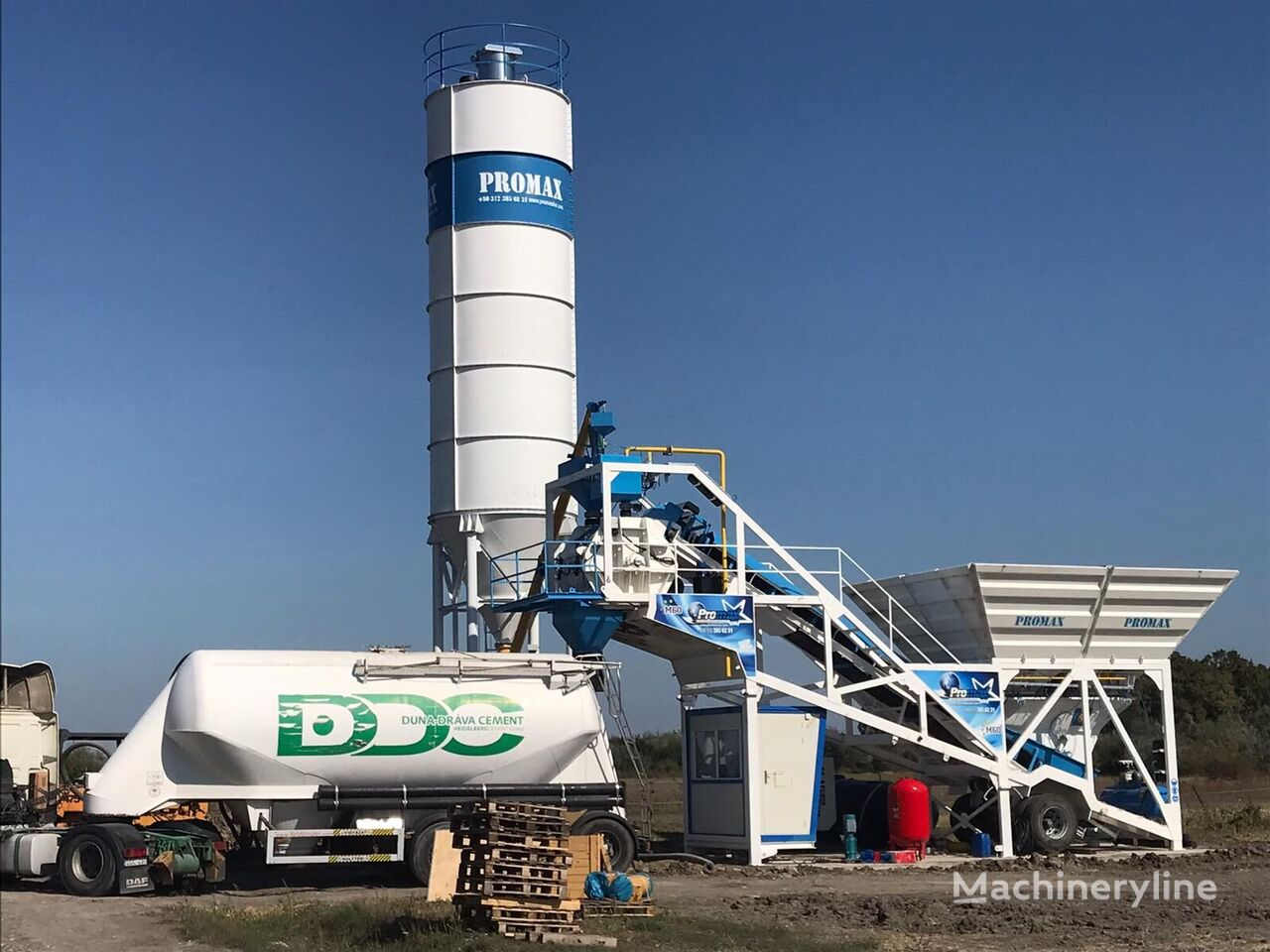 ny PROMAX Mobile Concrete Batching Plant M60-SNG (60m3/h) betongfabrikk