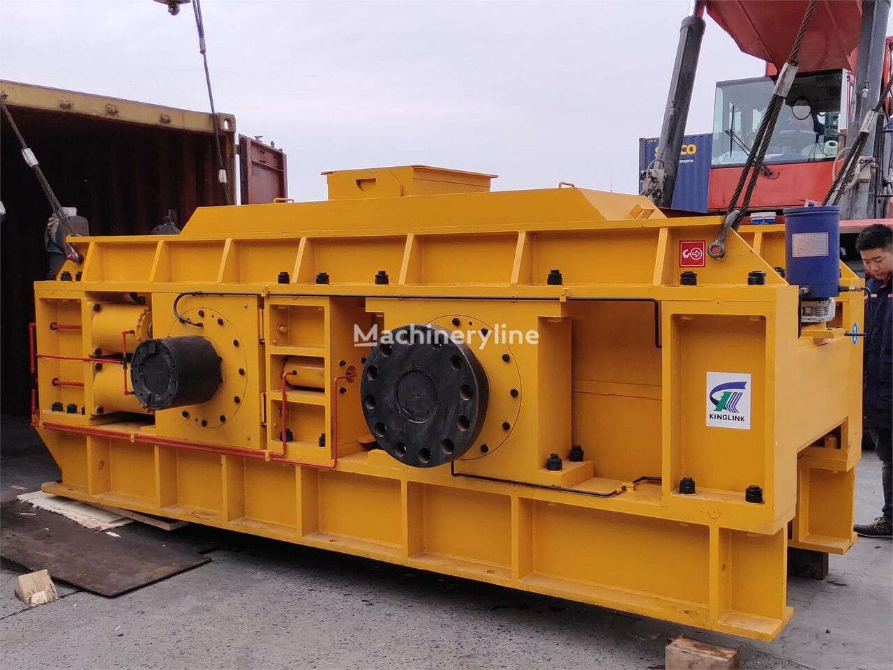 ny KINGLINK KL2PGS1500 hydraulic roller crusher for sand making knuseverket