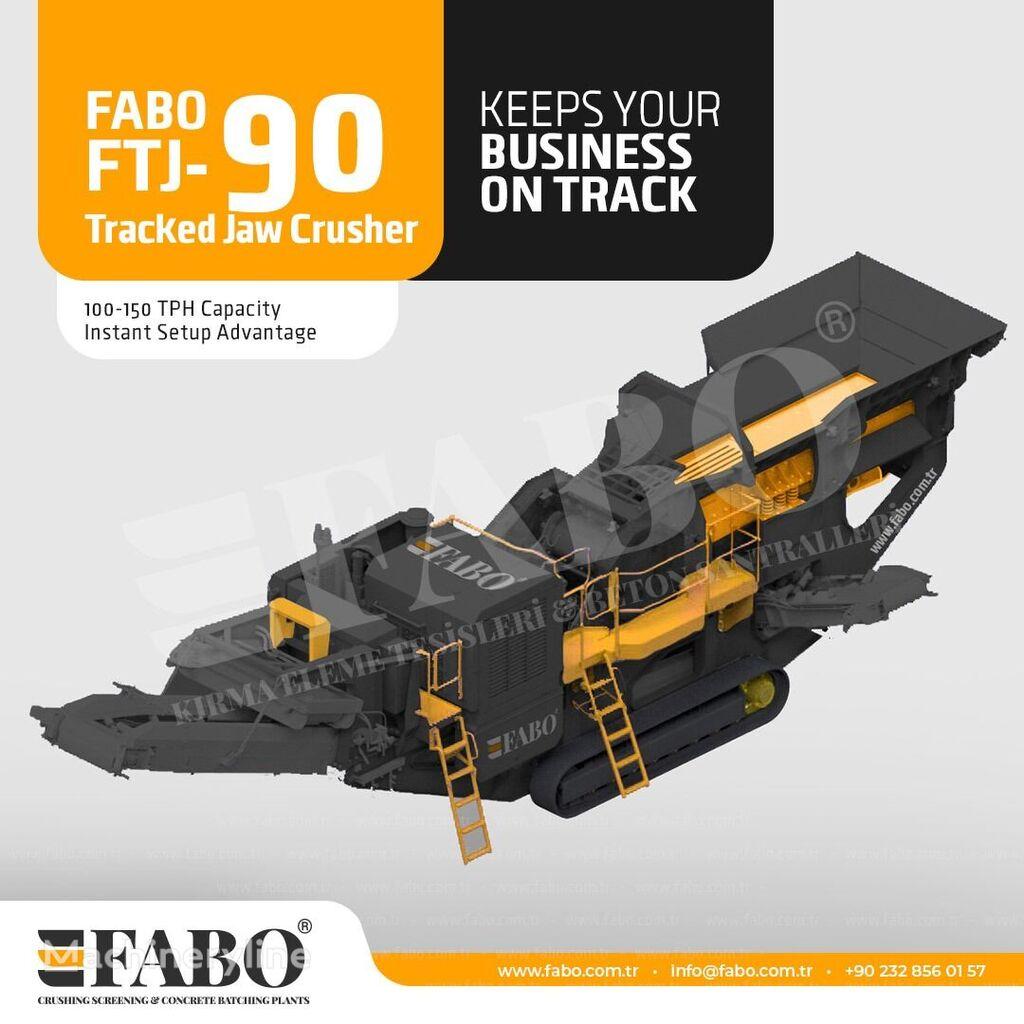 ny FABO Gusenichnaya drobilka Fabo mobile knuseverket