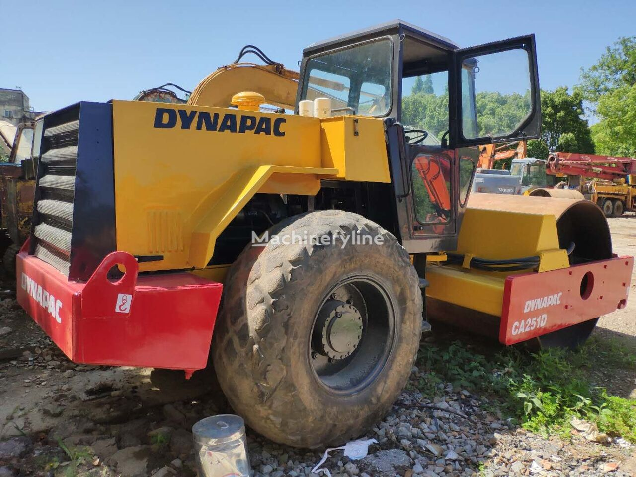 DYNAPAC Used Single Drum  Road Roller CA251D 10TON Second Hand Road Roll veivals