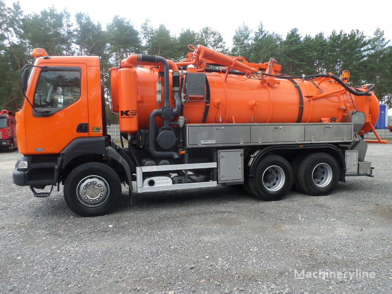 RENAULT KERAX 6x4 KROLL WUKO Water recycling kloakkbil