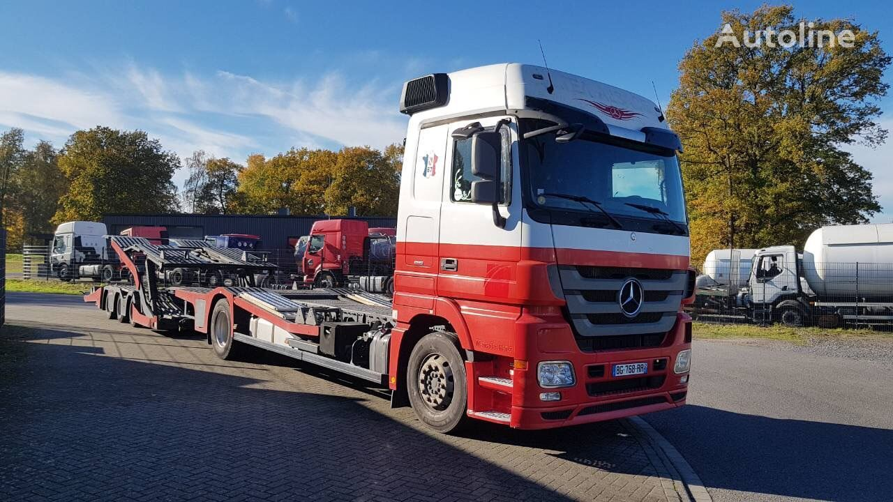 MERCEDES-BENZ Actros 1844 Euro 5 biltransport + tilhenger biltransport
