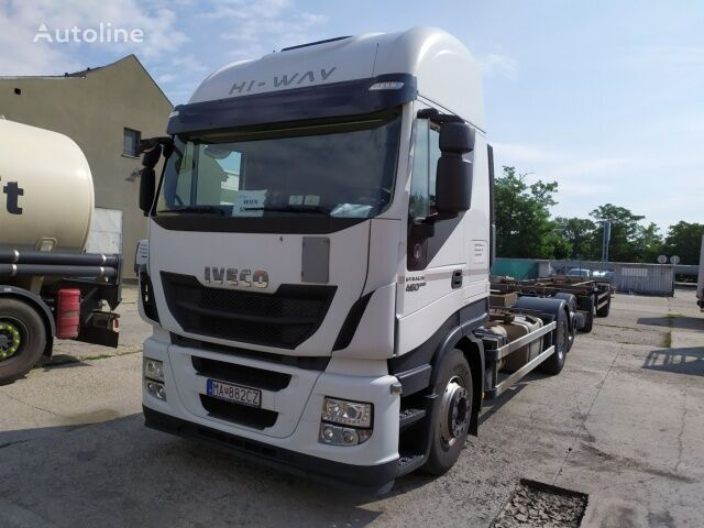 IVECO AS260SY/FP CM container lastebil + tilhenger container chassis