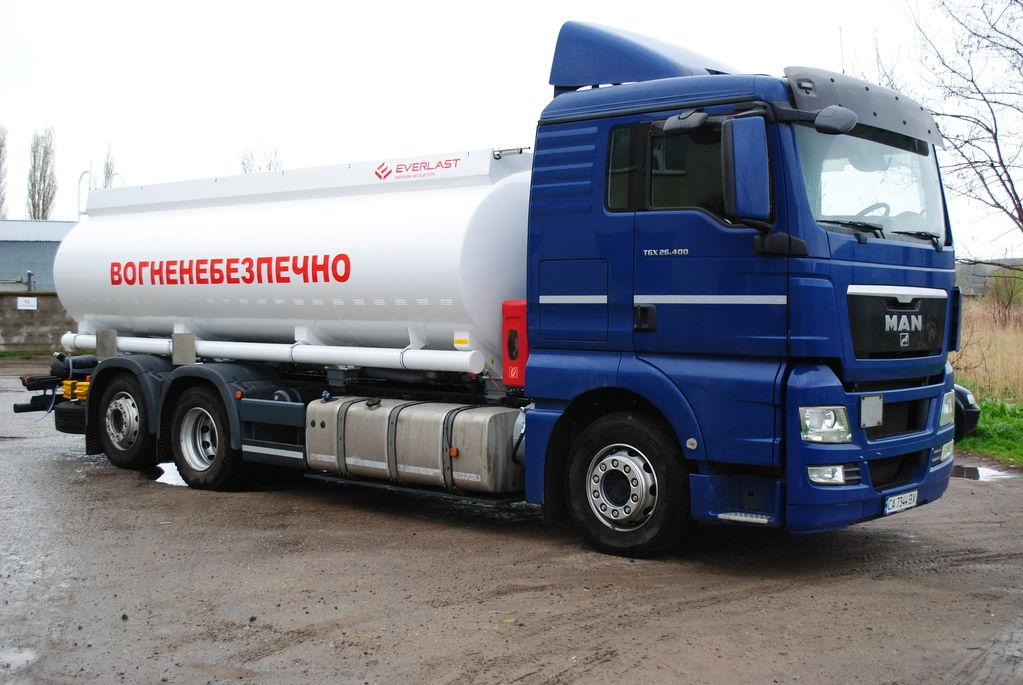 MAN avtocisterna  drivstoff transport tankbil + tilhenger