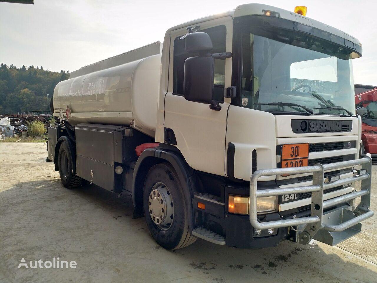 SCANIA P124 360 drivstoff transport tankbil