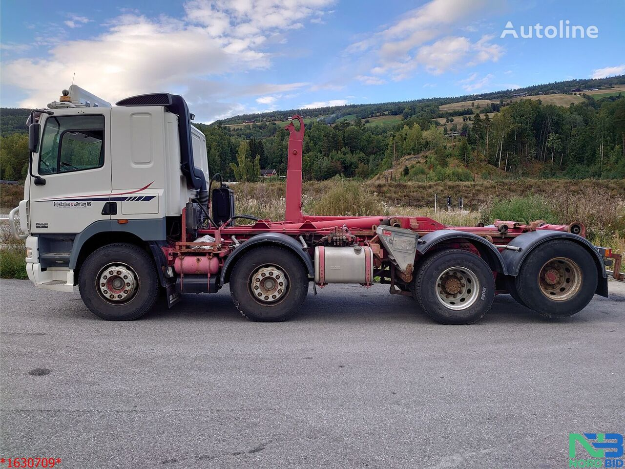 DAF 85-480CF 8x4 *Abrollkipp*Manual*Euro 3*Video krokløftbil