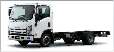 ny ISUZU NQR-90 lastebil chassis