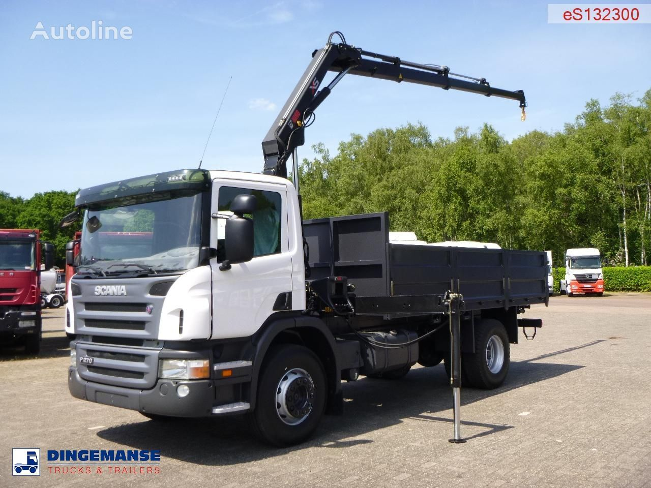 ny SCANIA P270 LB 4X2 Hiab XS 099 B-3 Duo / NEW/UNUSED lastebil flatbed