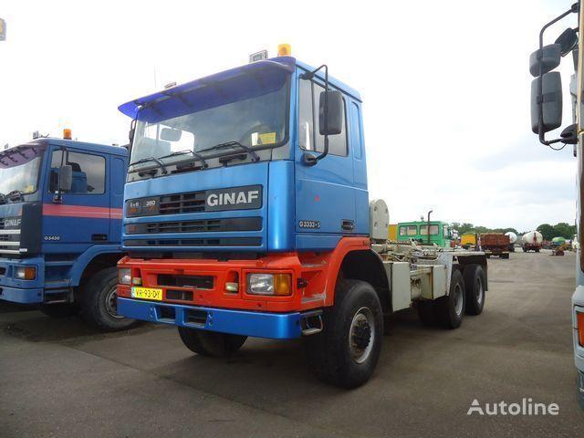 GINAF G3333-S 6x6 Ketting / Chain system lastebil med kabelsystem