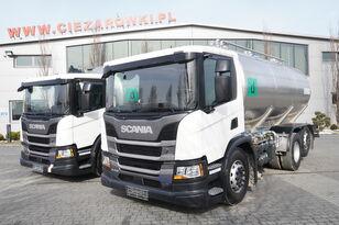 SCANIA P410 , E6 , 6X2 , 20.000km ! ! ! , 2 units , steer/lift axle , 3 melkebil