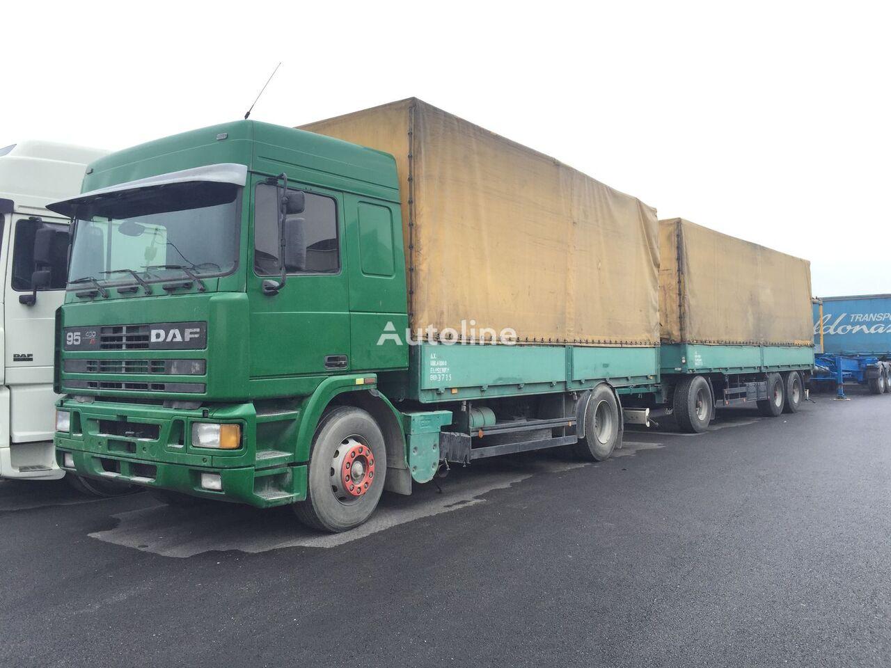 DAF 95.430 ATI EURO2 + SCHARZMULLER tilt lastebil + kapell tilhenger