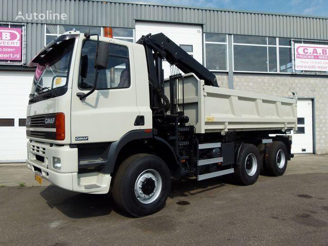 GINAF M 3335-S 6x6 + Crane HMF1150 tippbil